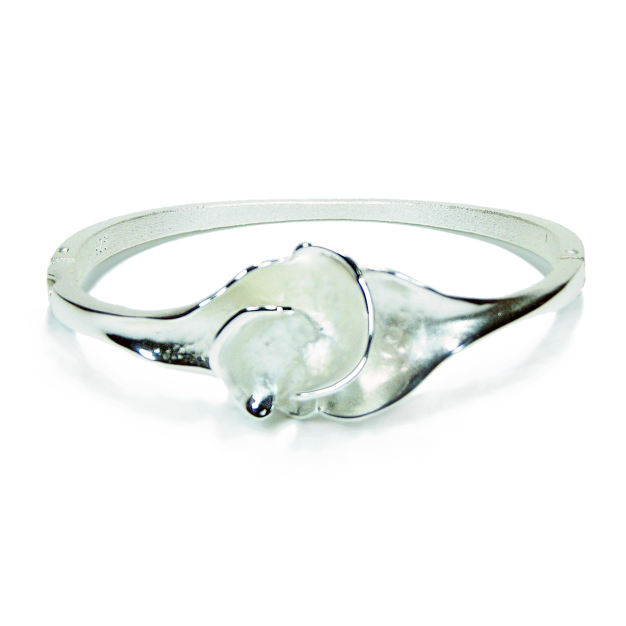 Charisma Small Silver Flower Bangle