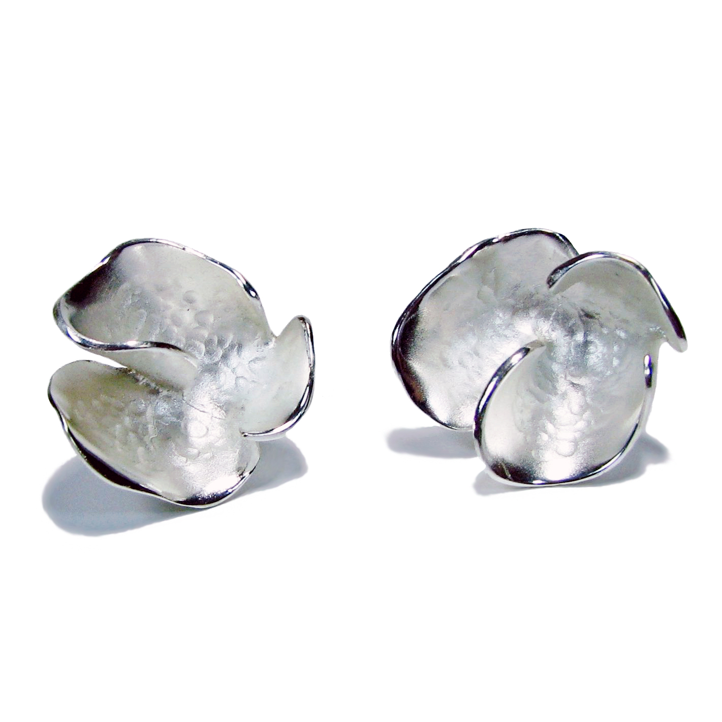 Charisma Large Silver Flower Earrings
