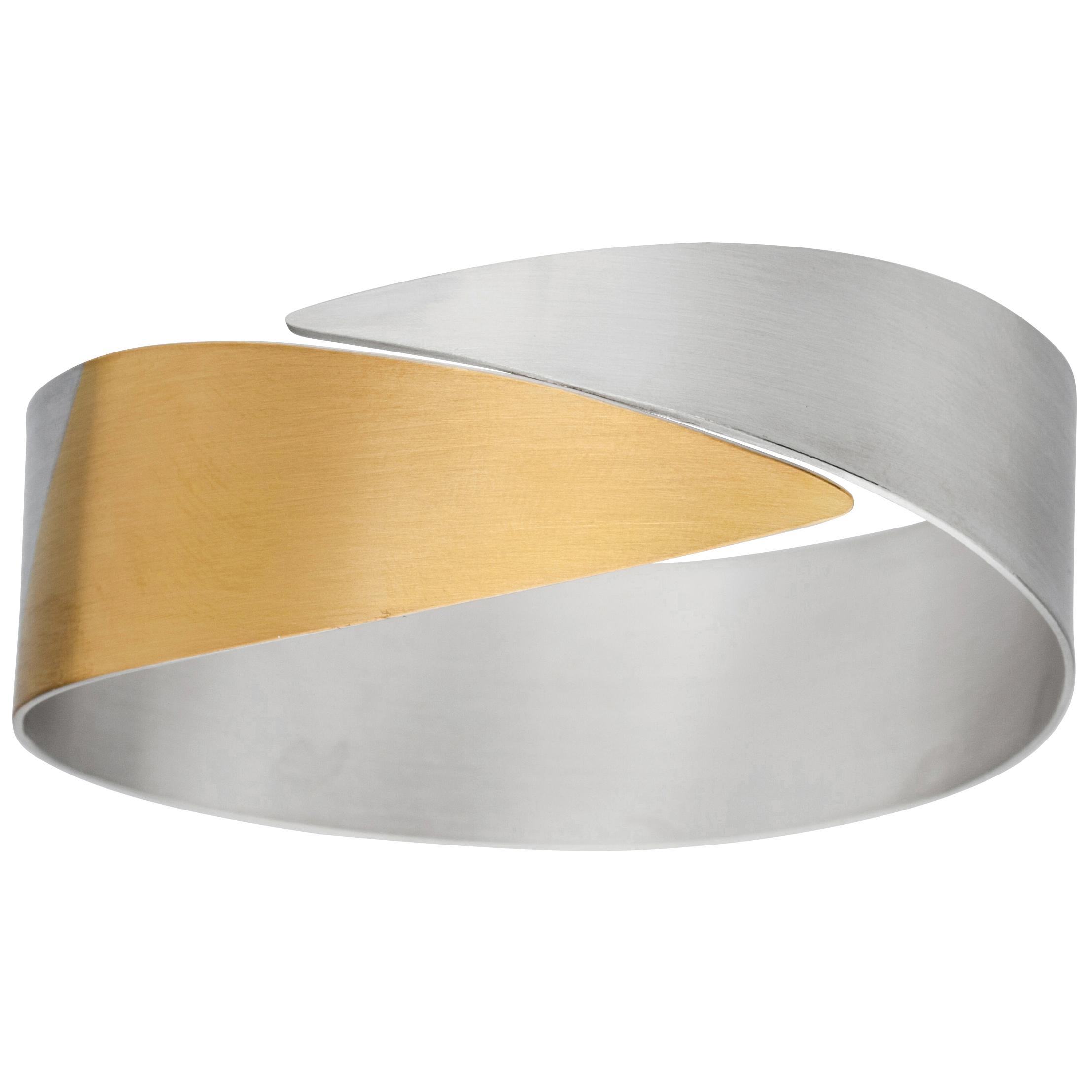Manu 22ct Gold And Silver Bangle