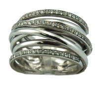 Al Caro 0.45CT FSI 18CT White Gold Ring