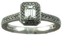 Antwerp Diamonds 0.5CT TW GVS 18CT White Gold Engagement Ring