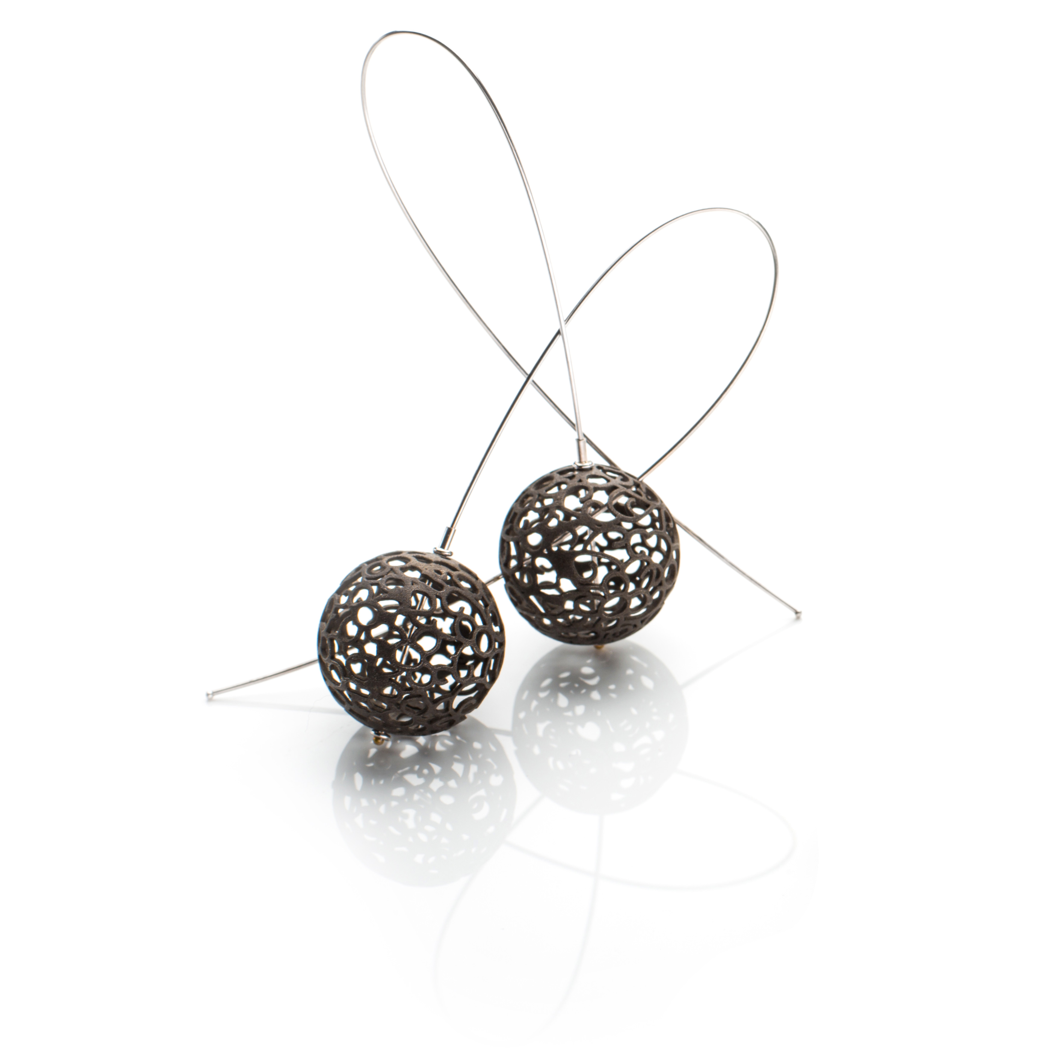 Lindenau Black Rhodium Bobble Earrings