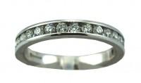 0.5CT GSI Half Eternity Diamond Ring