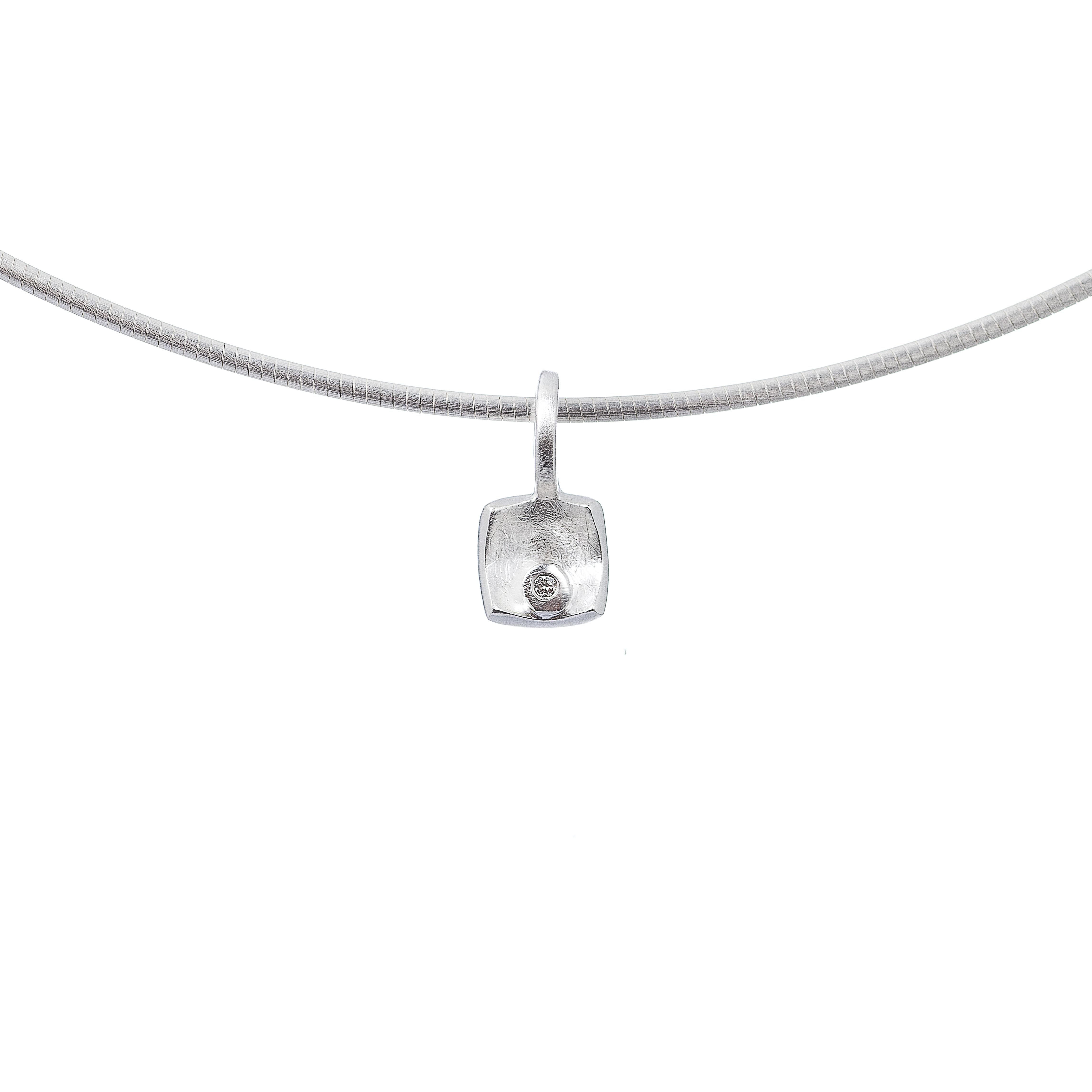 Tezer Diamond Square Pendant