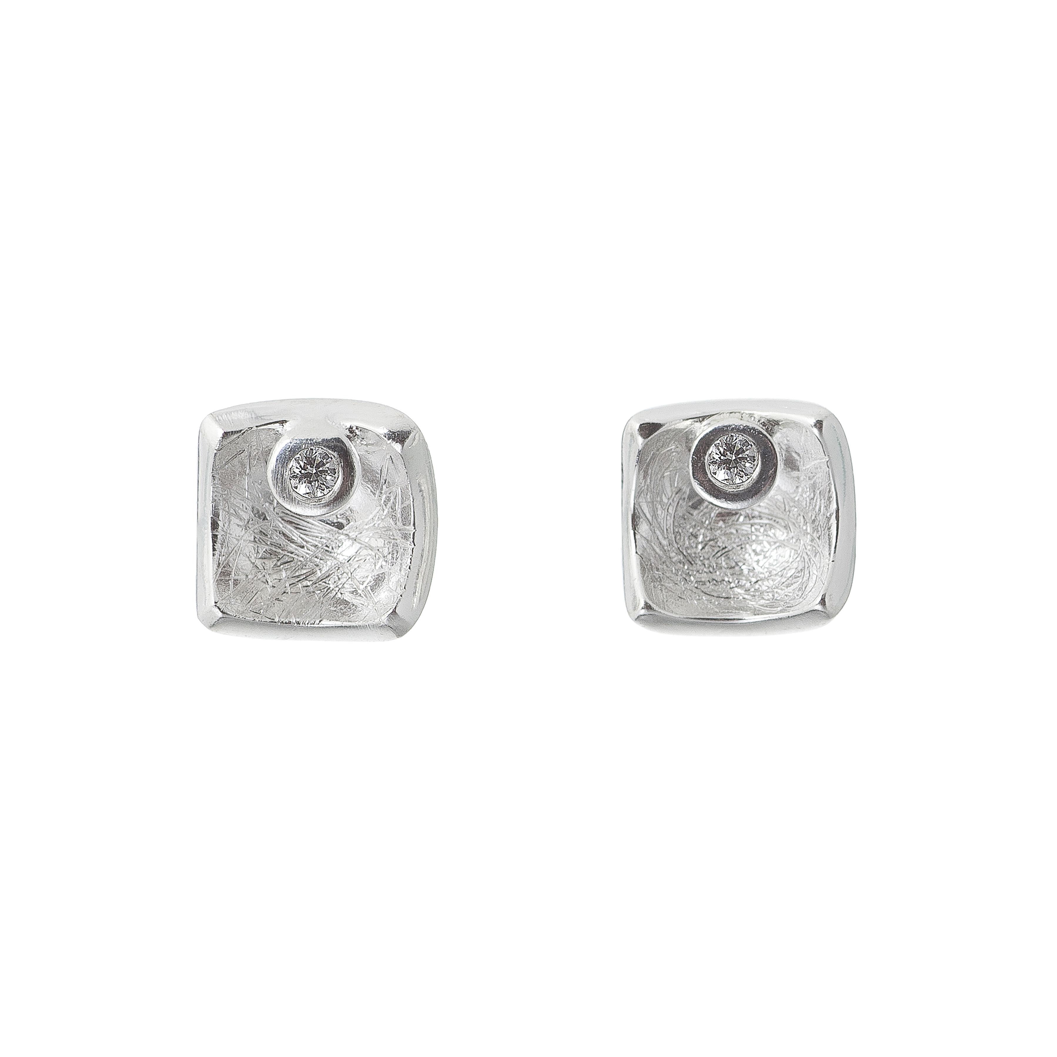 Tezer Diamond Square Earring