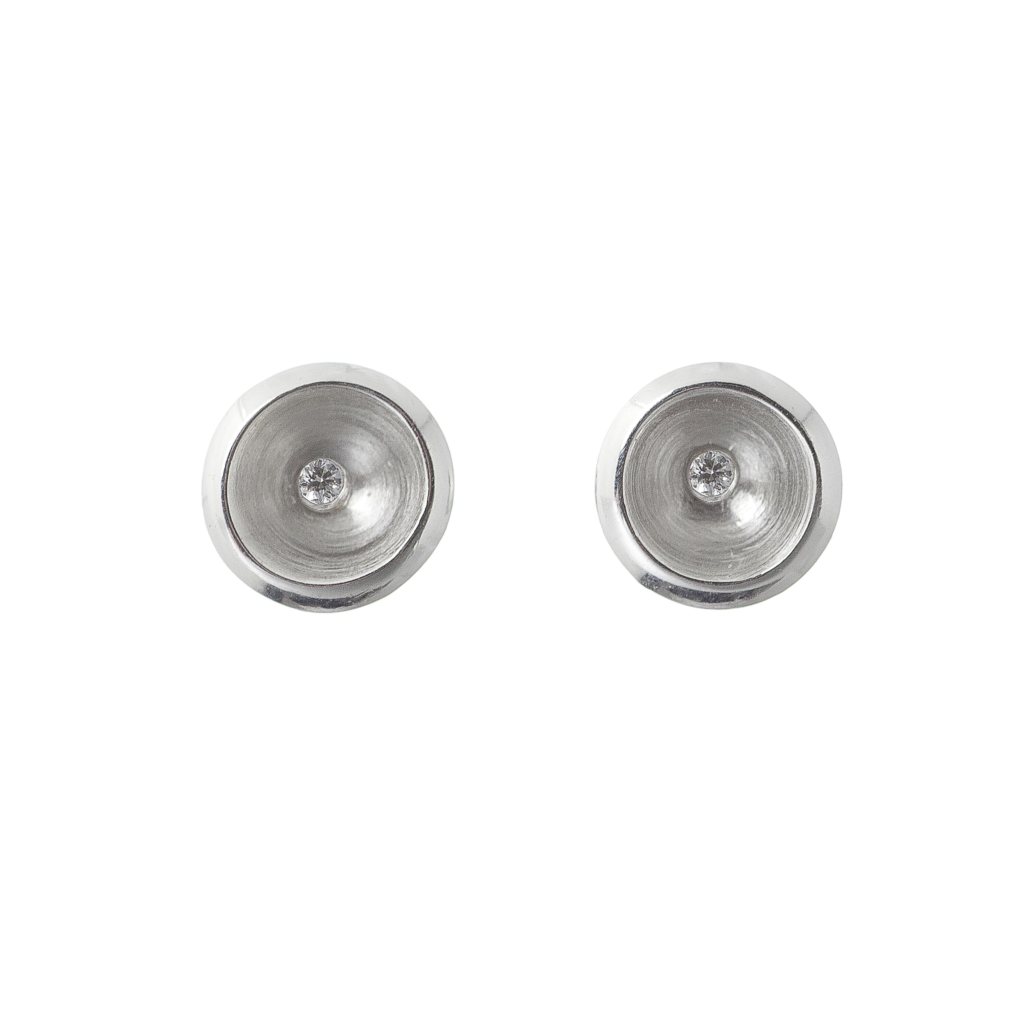Tezer Diamond Circular Stud Earring