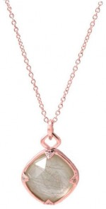Jayce Wong Mother Of Pearl Pendant In Rose Gold