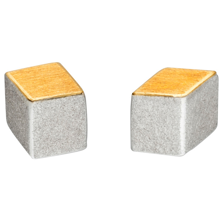 Manu 22CT Gold & Silver Square Studs