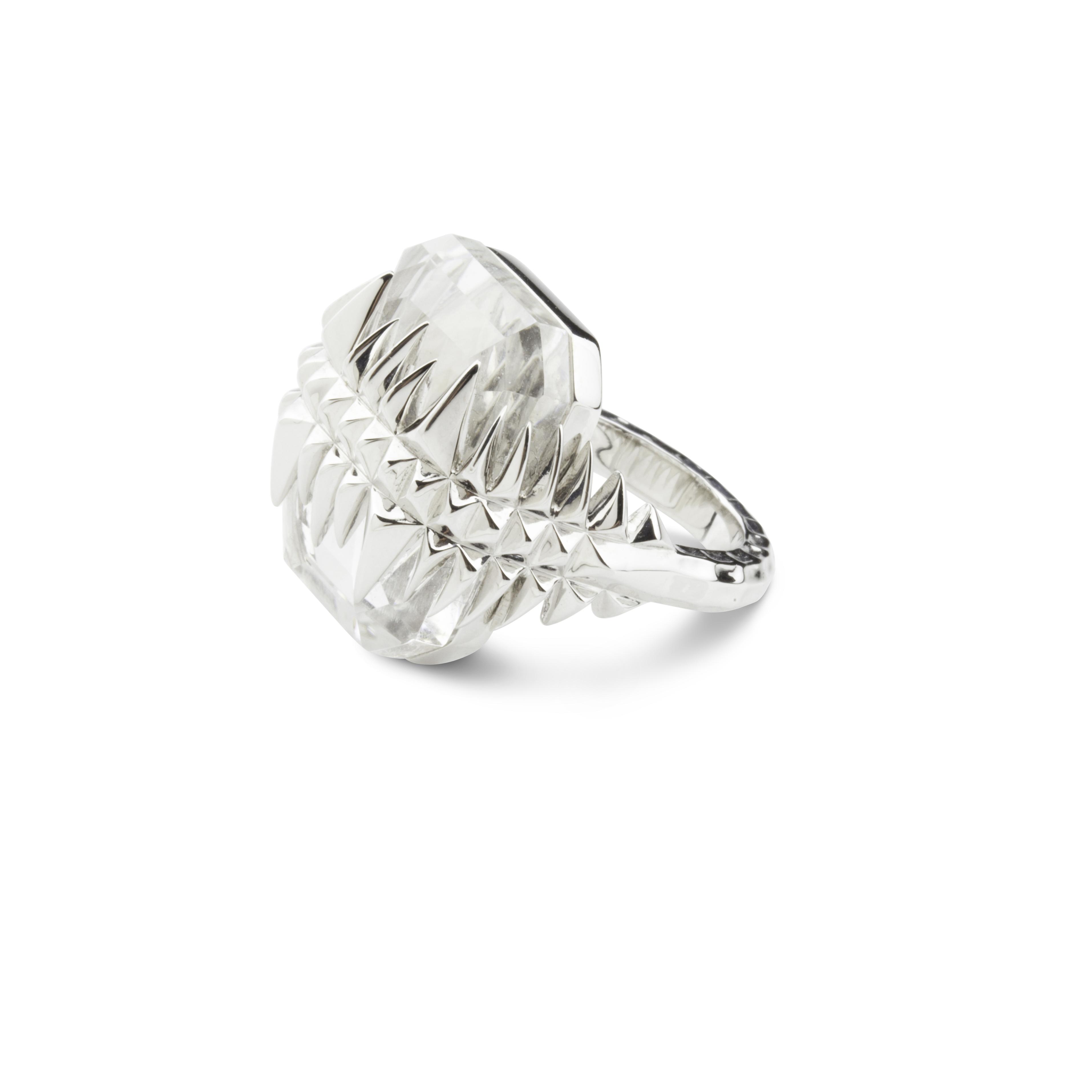Kasun Silver Black Sea Glacier Ring