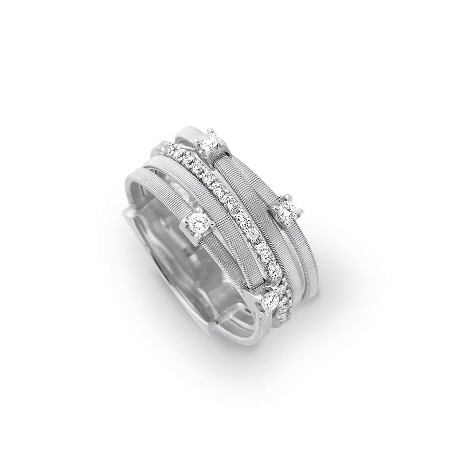Marco Bicego Goa Five-Strand Diamond Ring | Williamson Brown