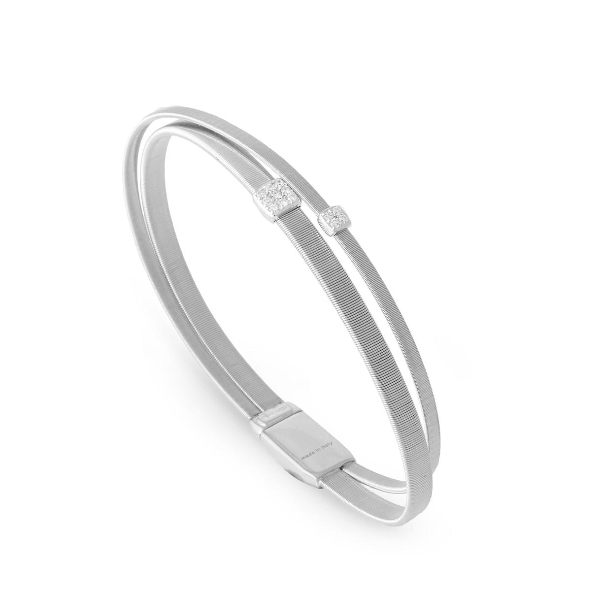 Marco Bicego Masai Two-Strand White Gold And Diamond Bracelet