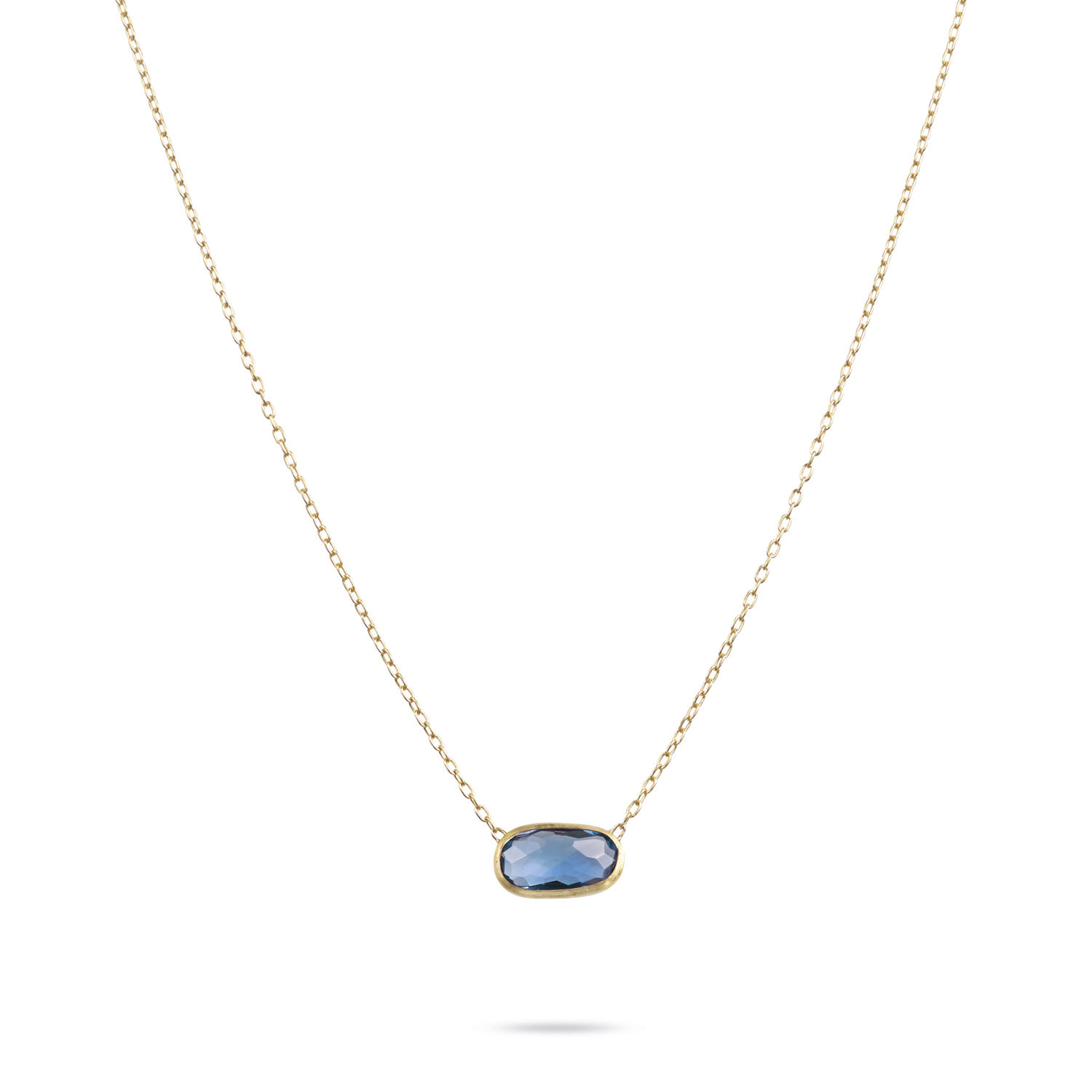 ct pendant topaz oval blue in necklace gold white