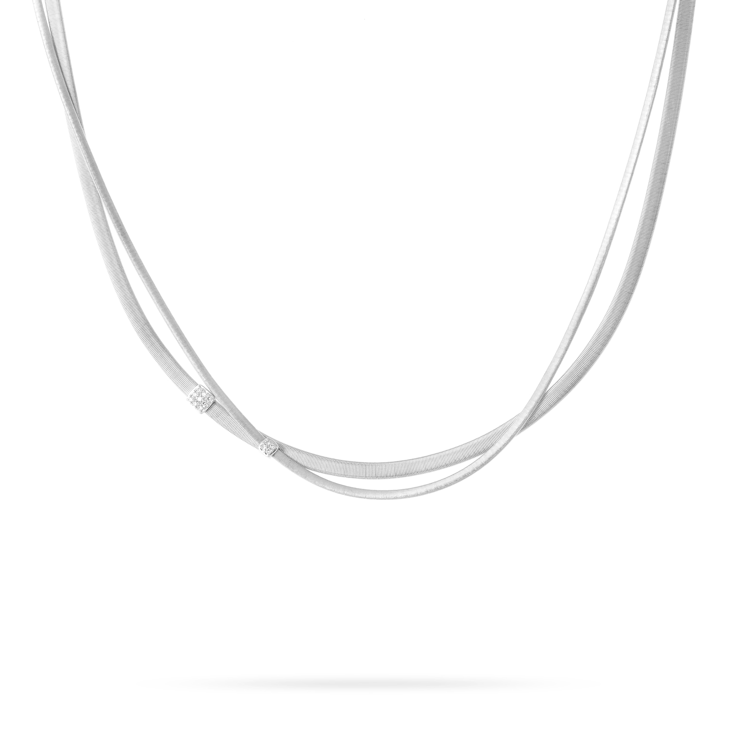 Marco Bicego Masai Two-Strand White Gold Necklace