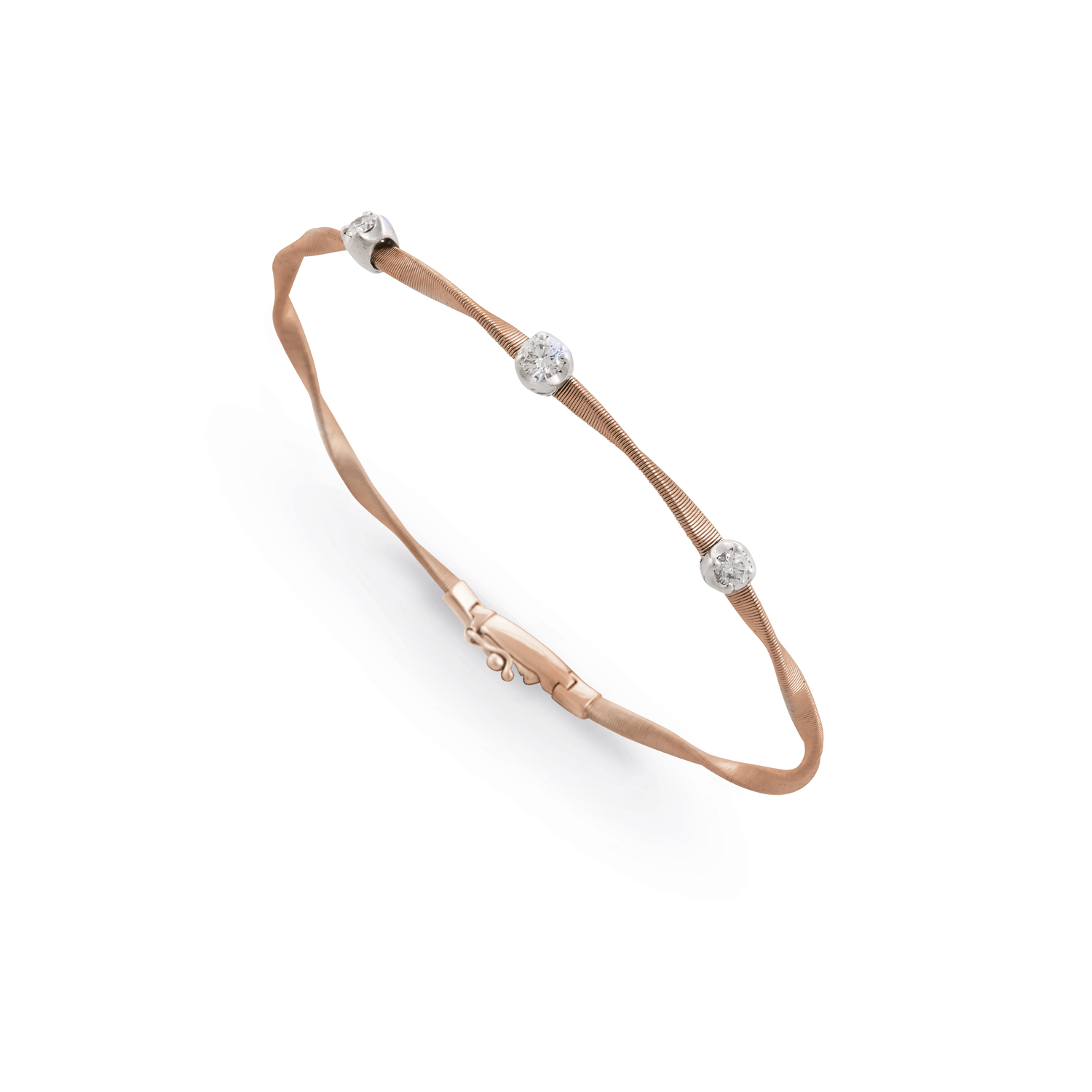 diamond bracelet masai station image gold white single marco bicego