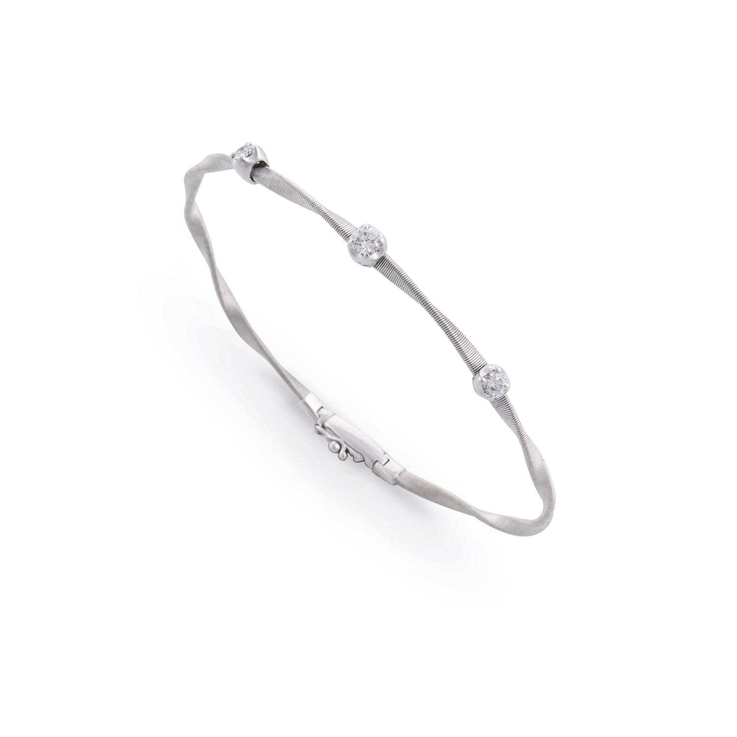Marco Bicego Marrakech White Gold Single-Strand Diamond Bracelet