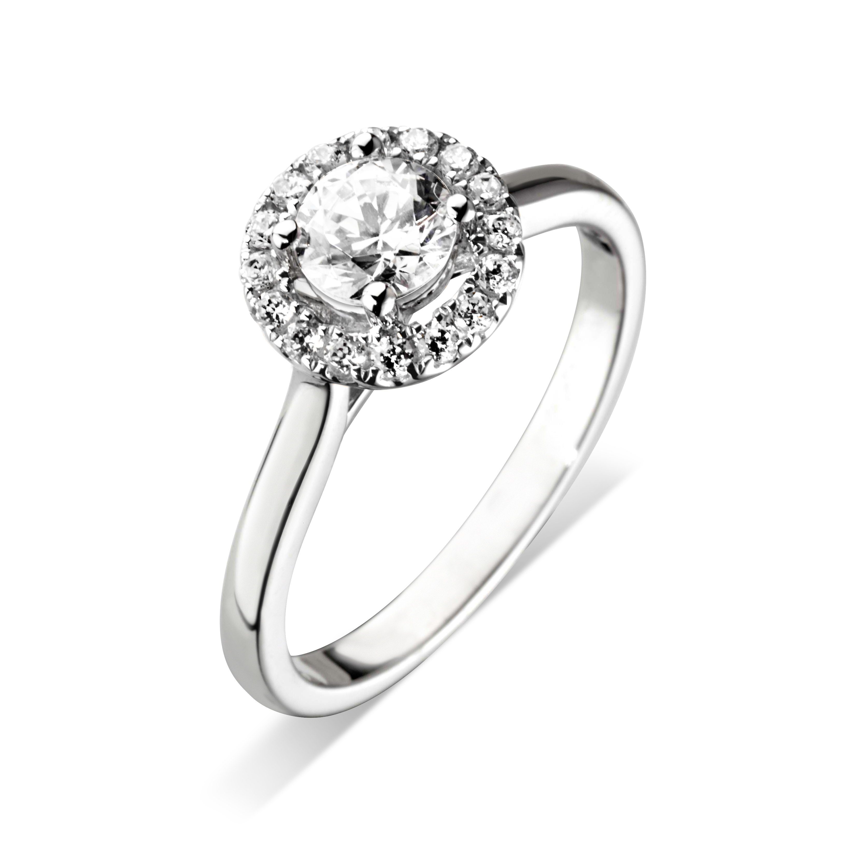 Williamson Brown Platinum Halo Engagement Ring Williamson Brown