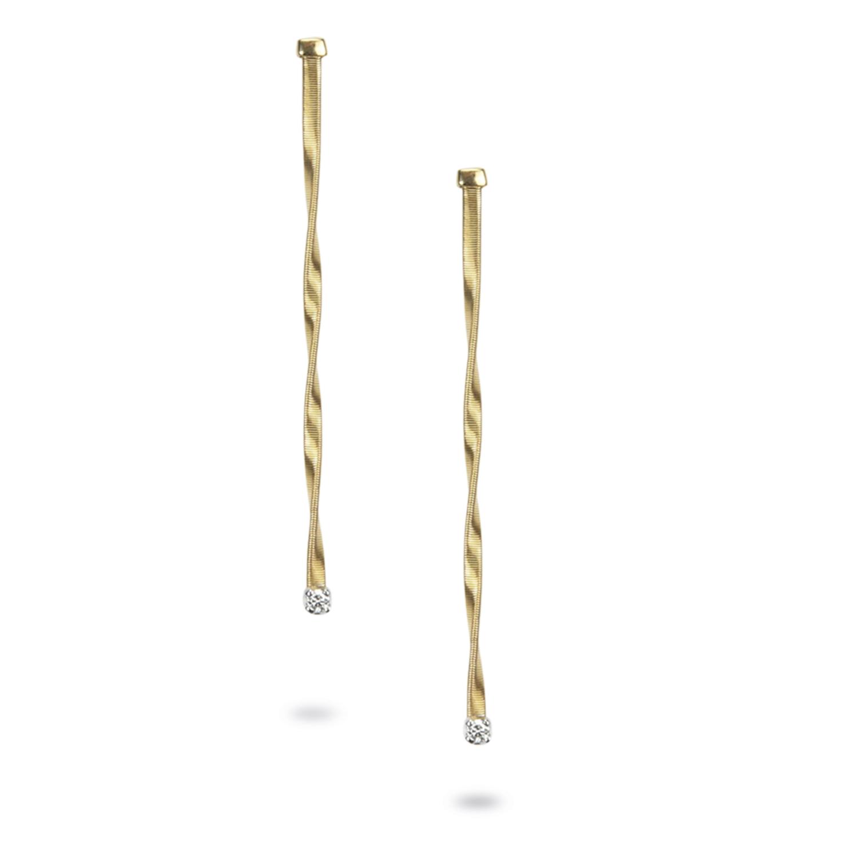 Marco Bicego Marrakech Gold & Diamond Strand Earrings