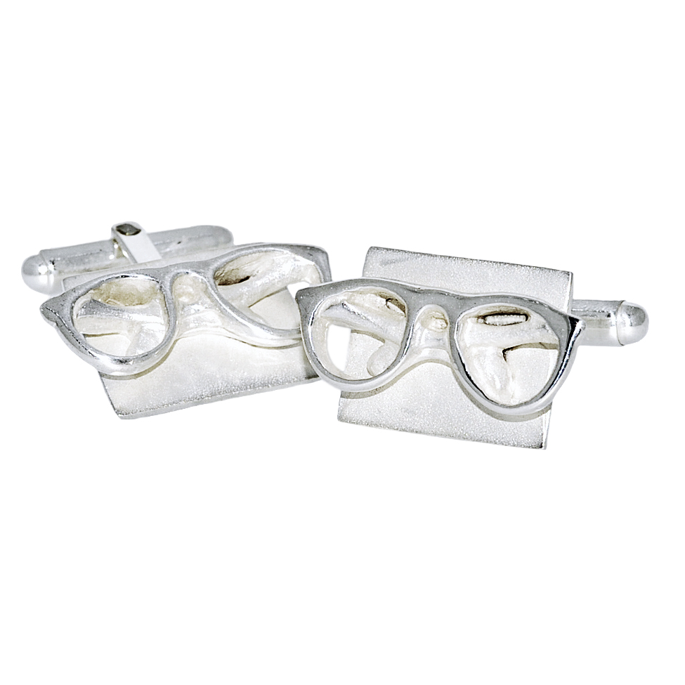 1444bec7397 Williamson Brown Silver Spectacles Cufflinks