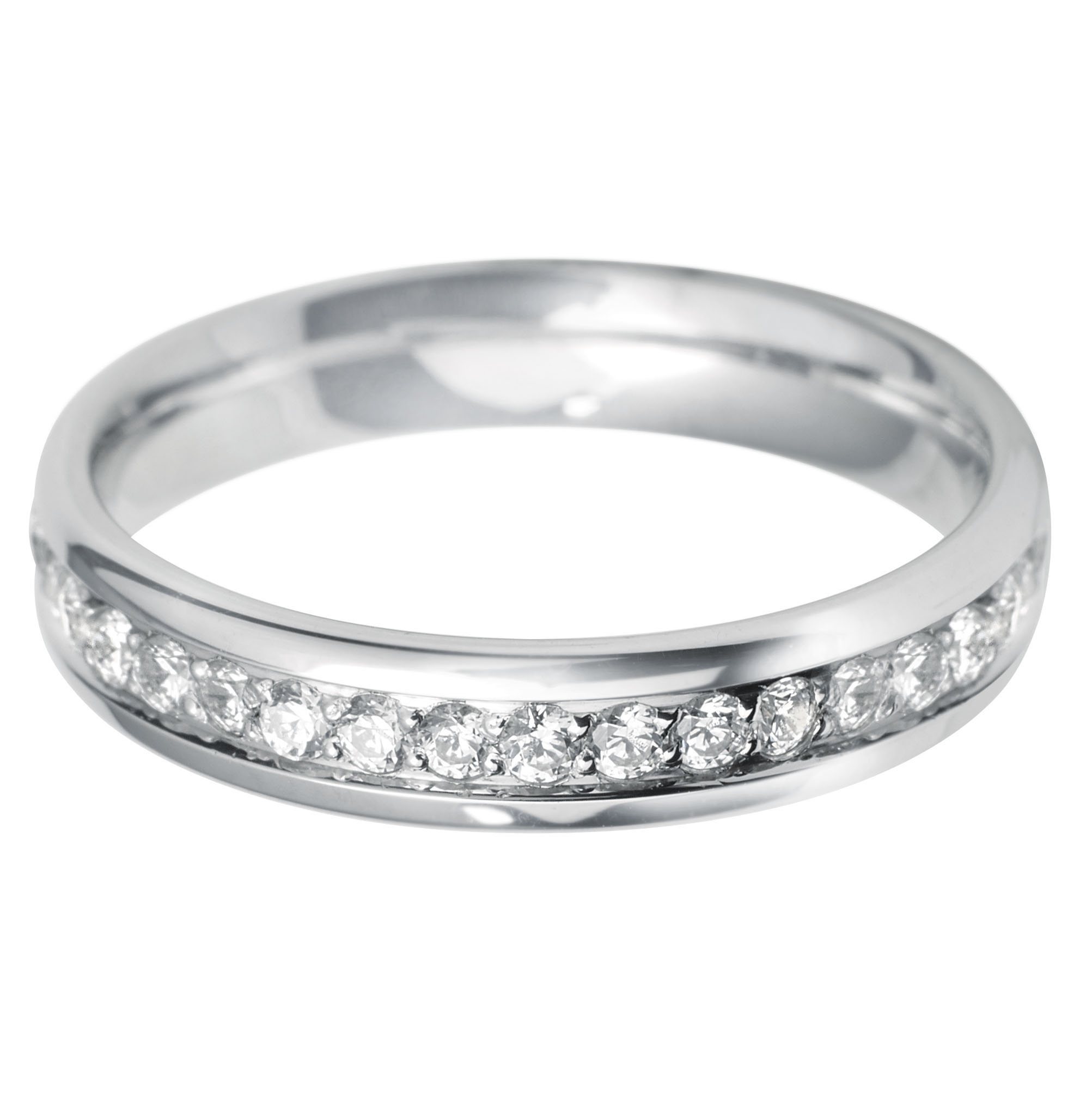 eternity bands paired band wedding wide gold with rose classic a pin diamond rings pave