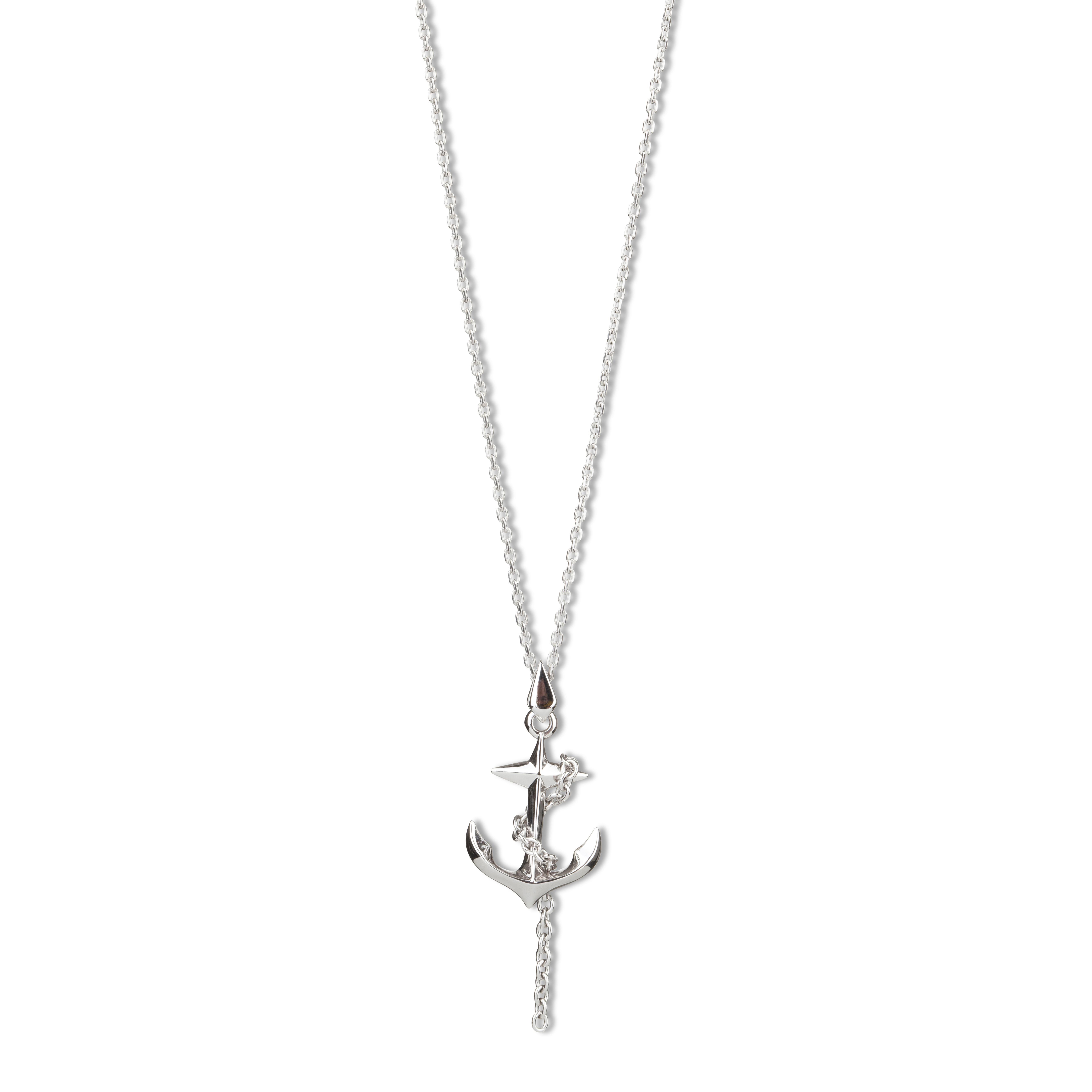 Kasun Silver Black Sea Anchor Pendant