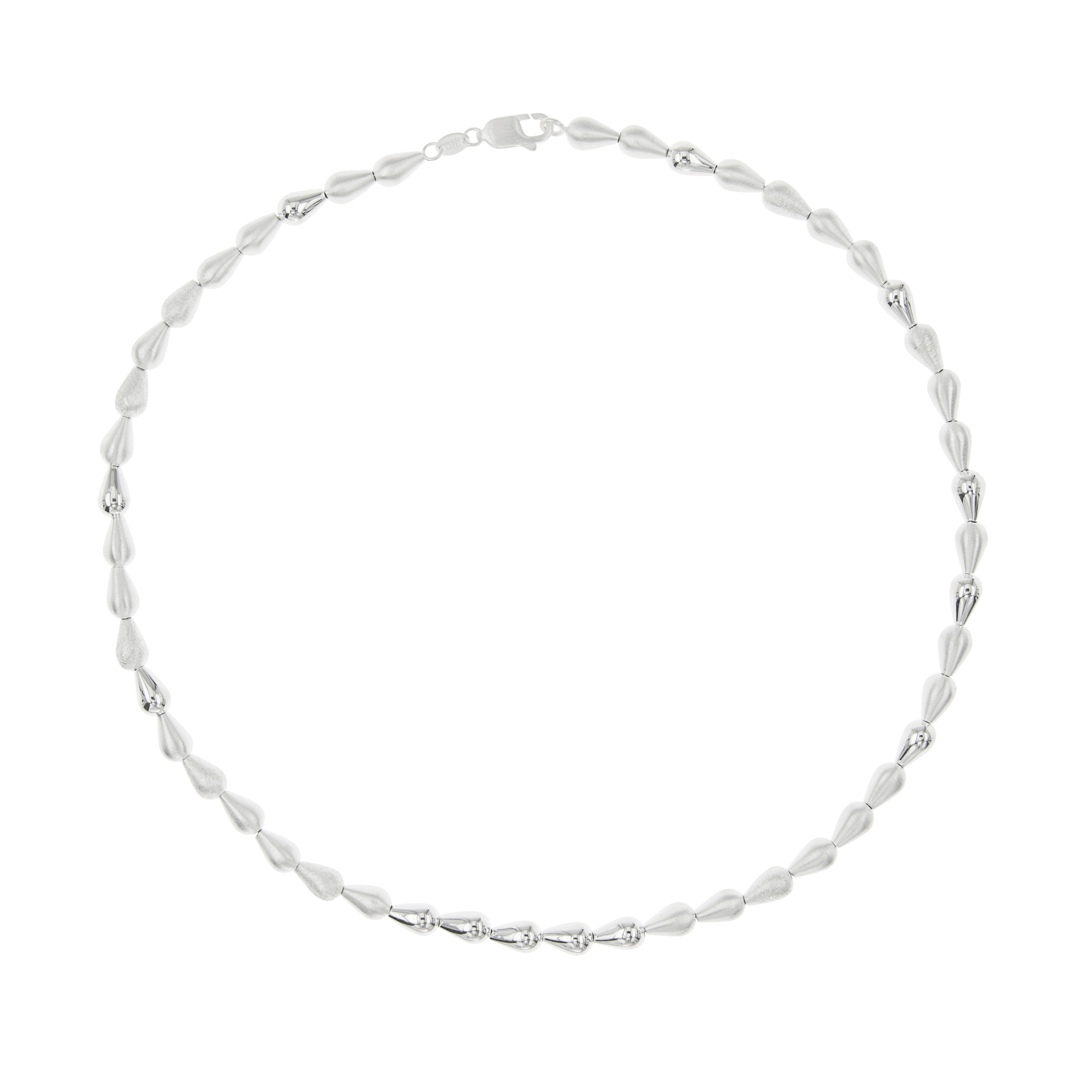 Tezer Textured Teardrop Necklace