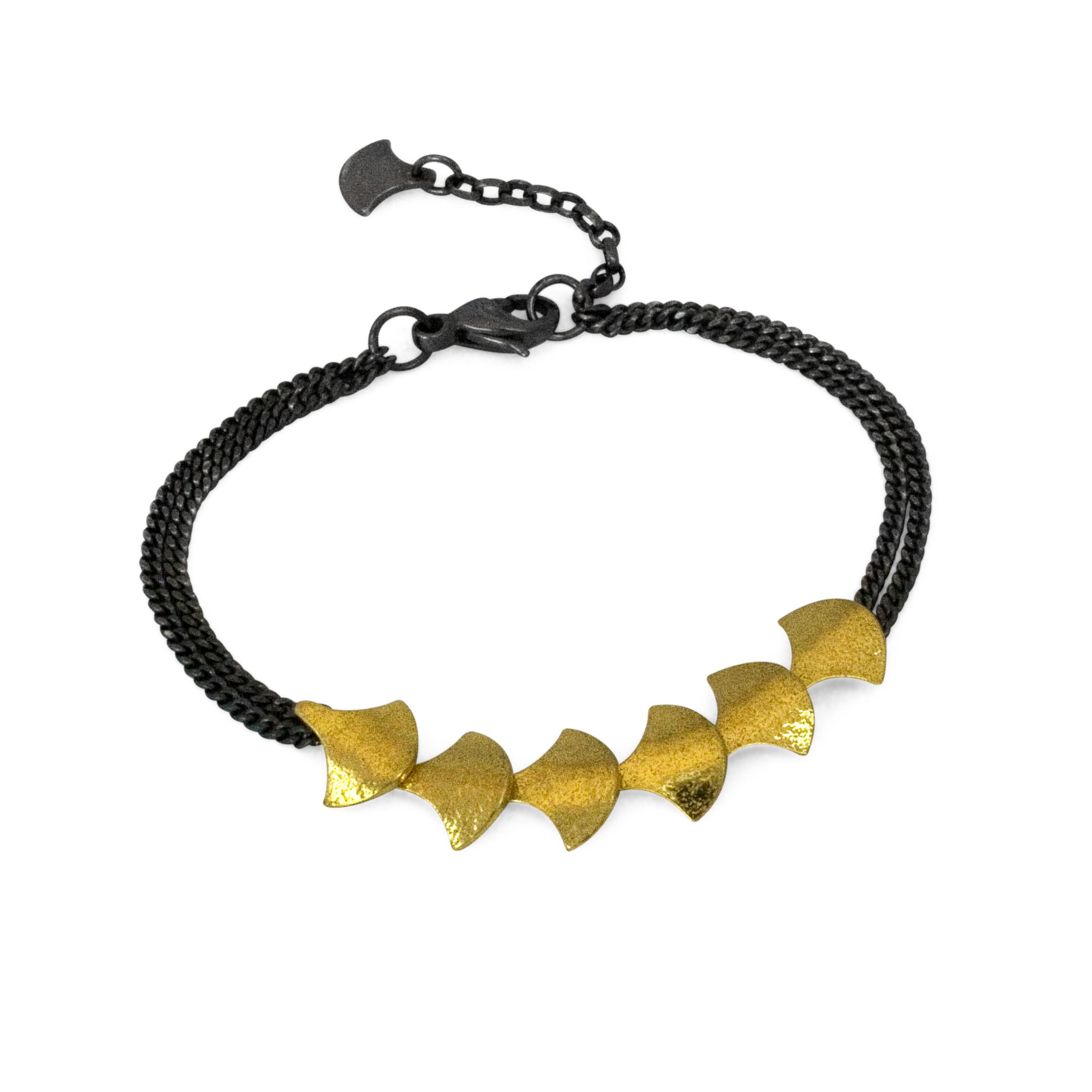 Cara Tonkin Black Gold Siren Scale Bracelet