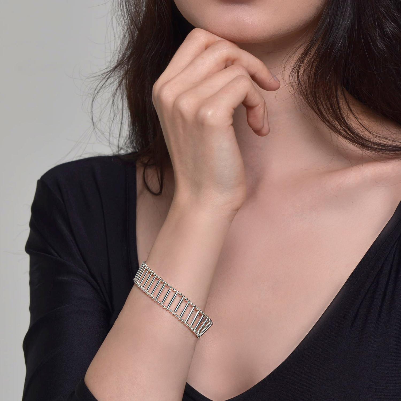 Cara Tonkin Rose Gold Theda Pharon Wide Bracelet l753UJK