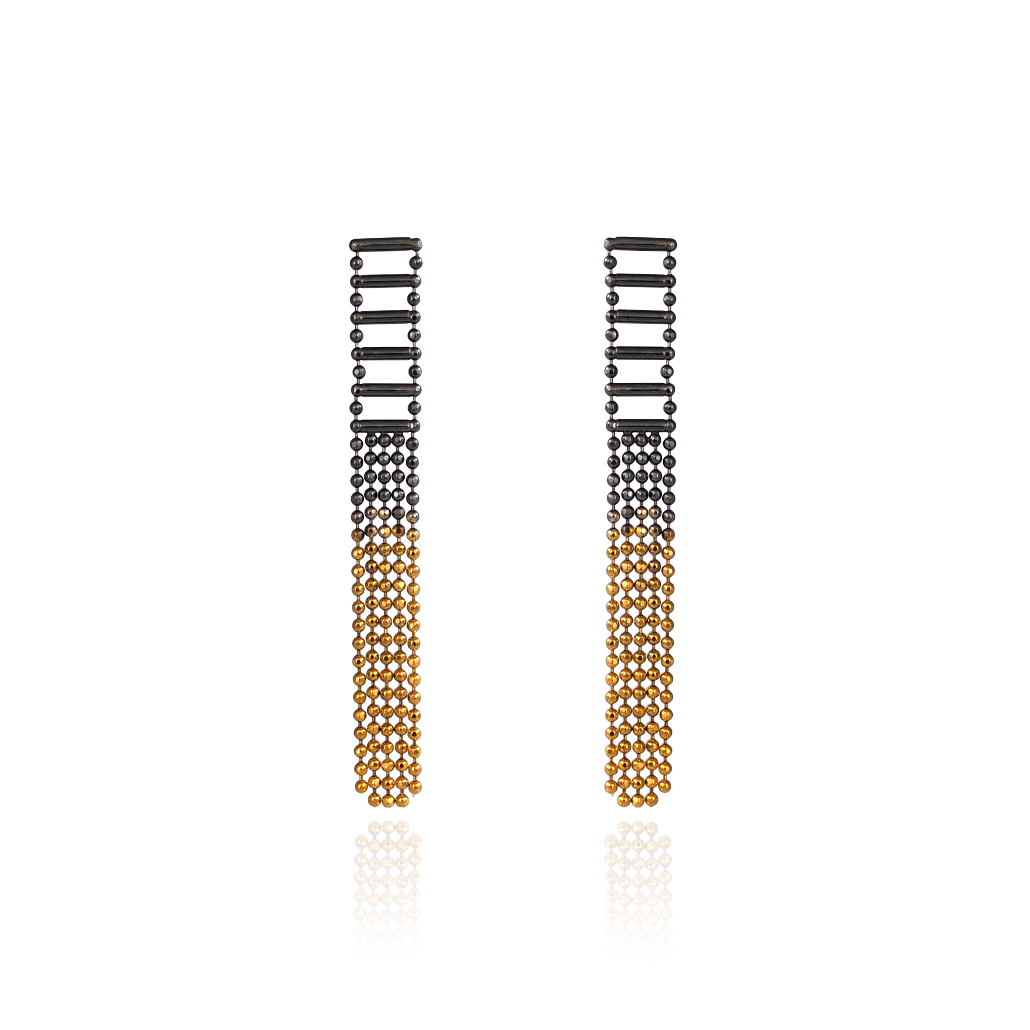 Cara Tonkin Black And Gold Theda Tassel Earrings