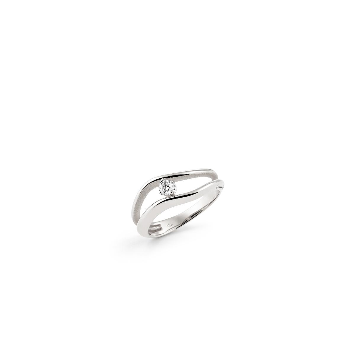 Anna Maria Cammilli 18ct White Gold And Diamond Luxor Multi Strand Ring.