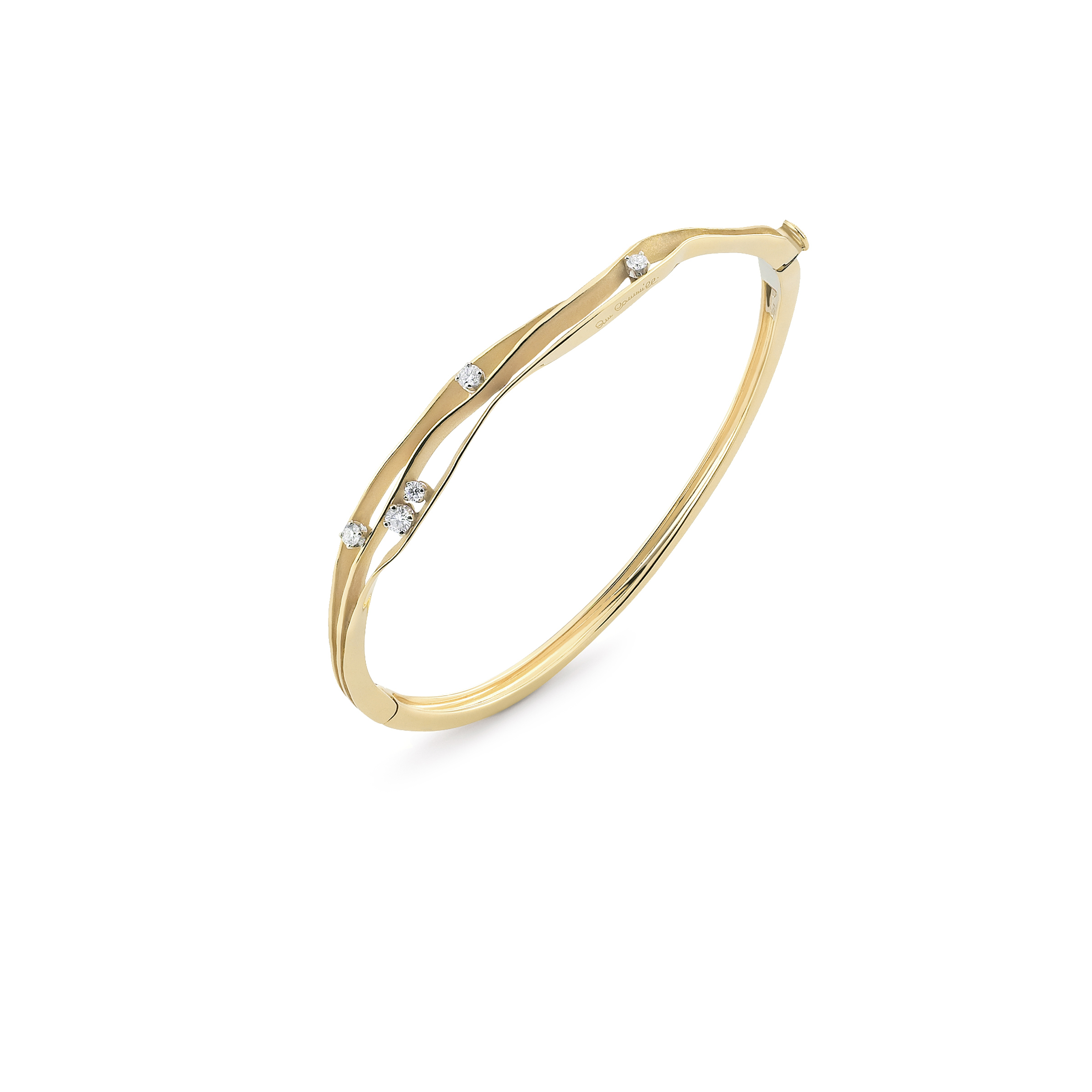 Anna Maria Cammilli Diamond Dune Multi Strand Bangle