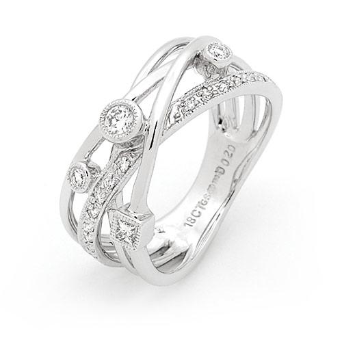 18ct Gold Multi-strand Diamond Ring