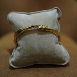 Williamson Brown Gold Plated Moon Bangle