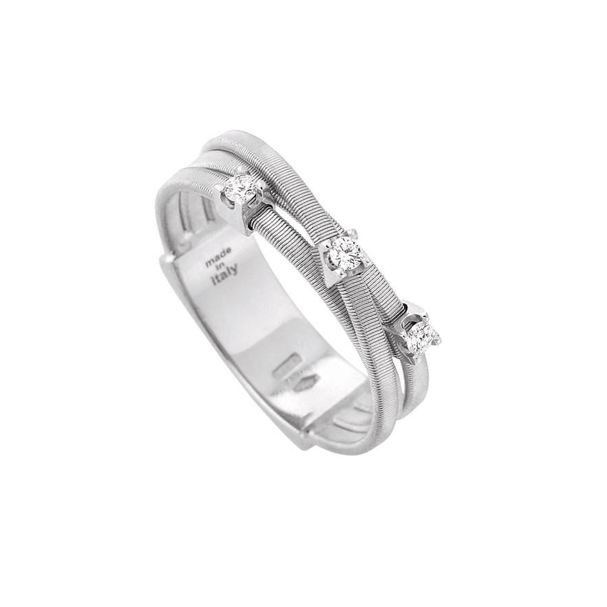 Marco Bicego Goa Three-Strand Diamond Ring