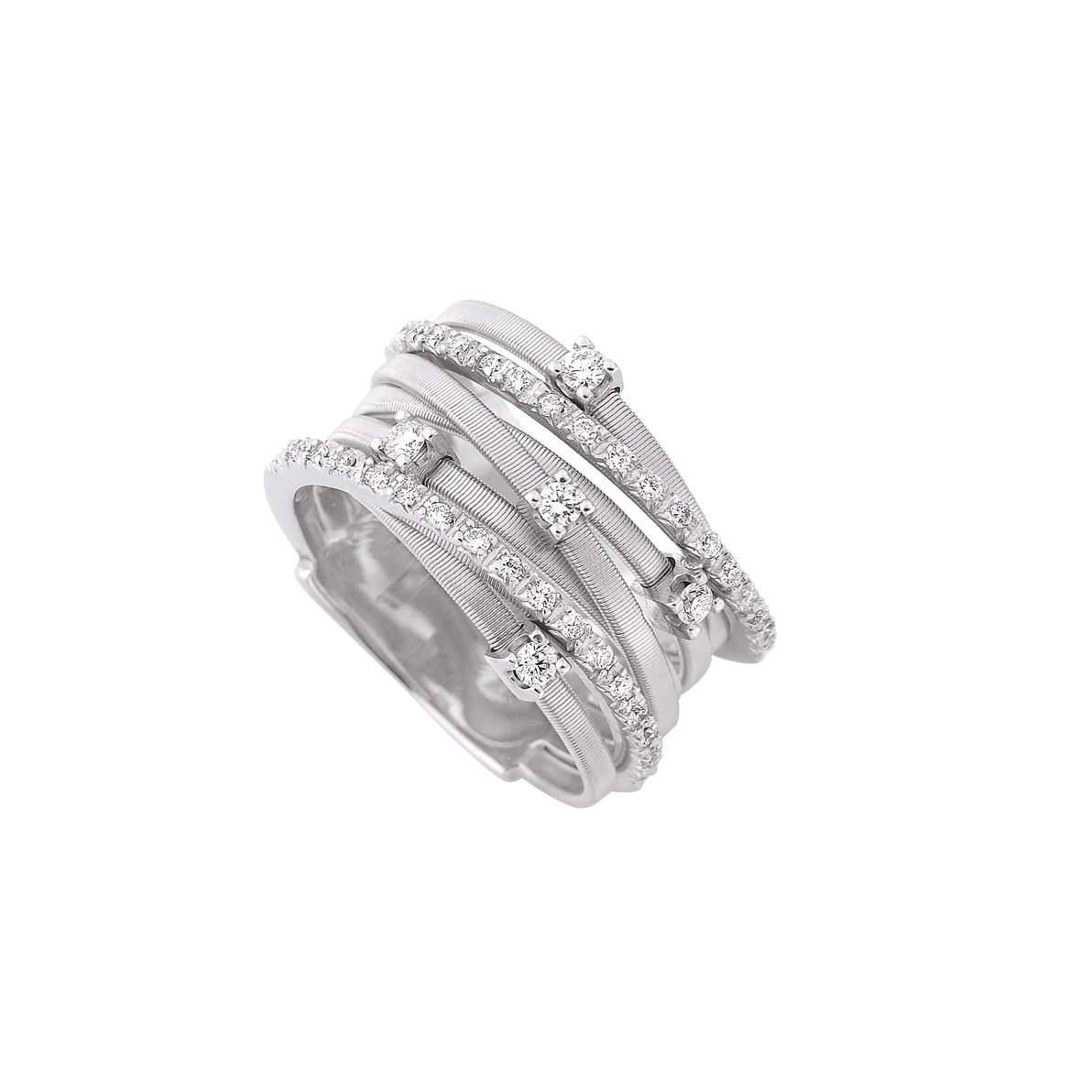 Marco Bicego Goa Seven-Strand Diamond Ring