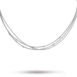 Marco Bicego Goa Three Strand Diamond Necklace