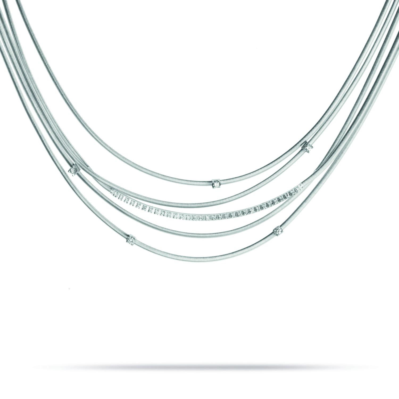 Marco Bicego Goa Five-Strand Diamond Necklace