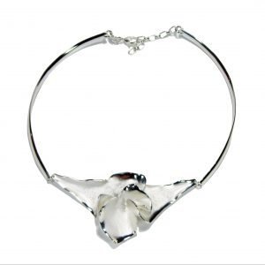 Charisma Large Silver Flower Necklace