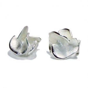 Charisma Small Silver Flower Earrings