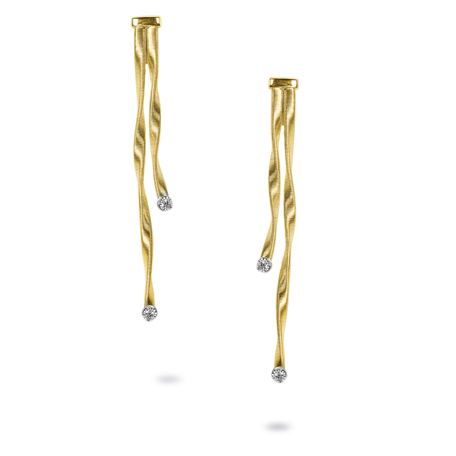 Marco Bicego Marrakech Two-Strand Diamond Earrings