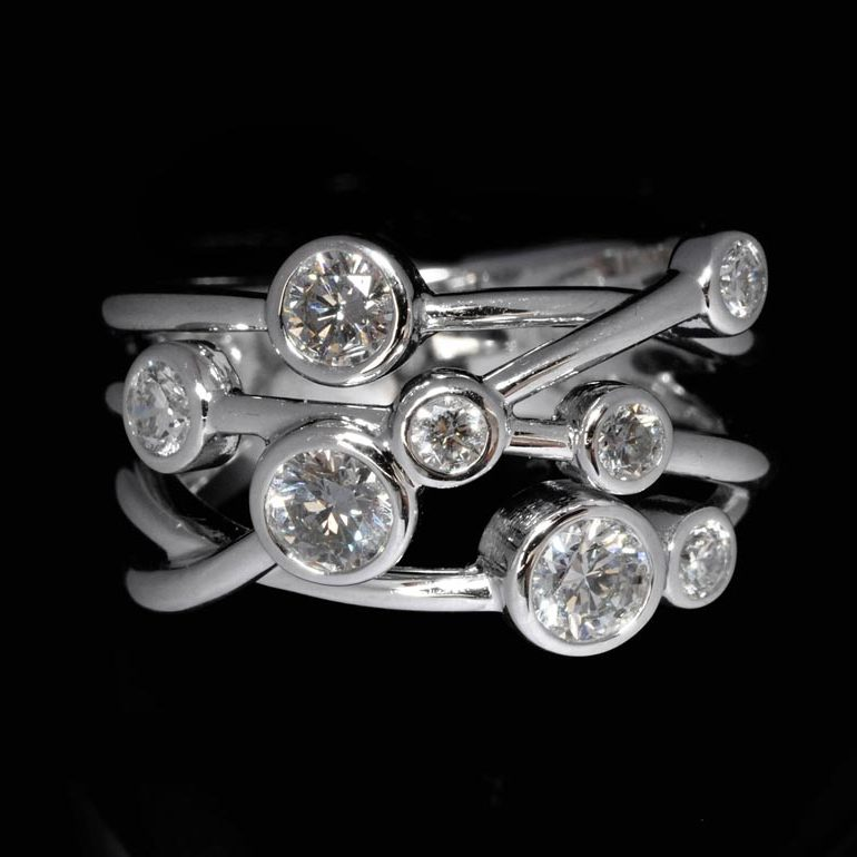 Williamson Brown 0.8ct Multi-Strand Lifestyle Ring