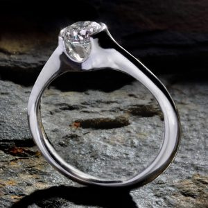 Williamson Brown Classic Demi-Flush 0.5ct Diamond Solitaire