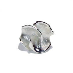 Charisma Large Silver Flower Ring