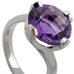 Williamson Brown Amethyst Twist Claw Cocktail Ring