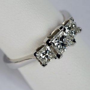 Williamson Brown 1ct Princess Cut Tiffany Claw Trilogy Ring