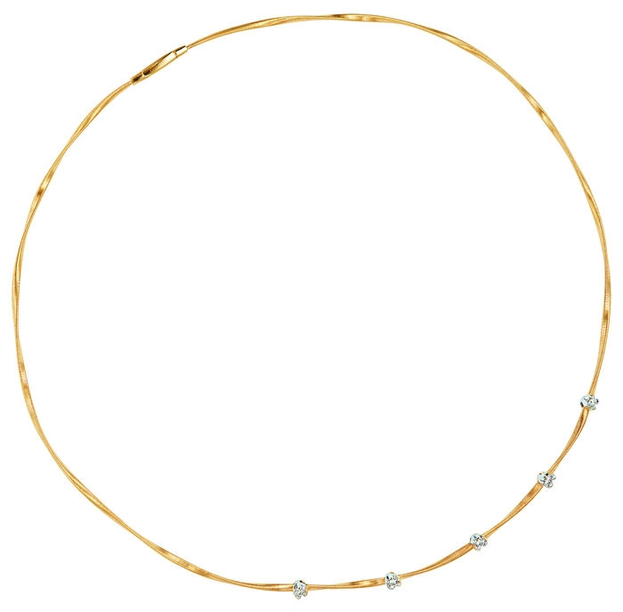 Mini Marrakech Single-Strand Gold & Diamond Necklace