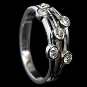 Three-Strand 0.4ct Diamond Lifestyle Ring