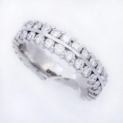 Williamson Brown Platinum & 2ct Diamonds Eternity Ring