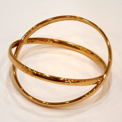 Williamson Brown Double Eclipse Bangle