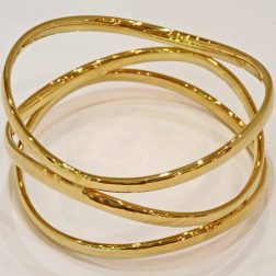 Williamson Brown Court Triple Helix Bangle