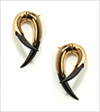 Kasun Gold Plated Claw Earrings